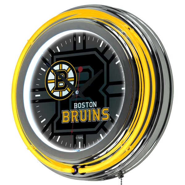 NHL Watermark Neon 11 Wall Clock by Trademark Glob