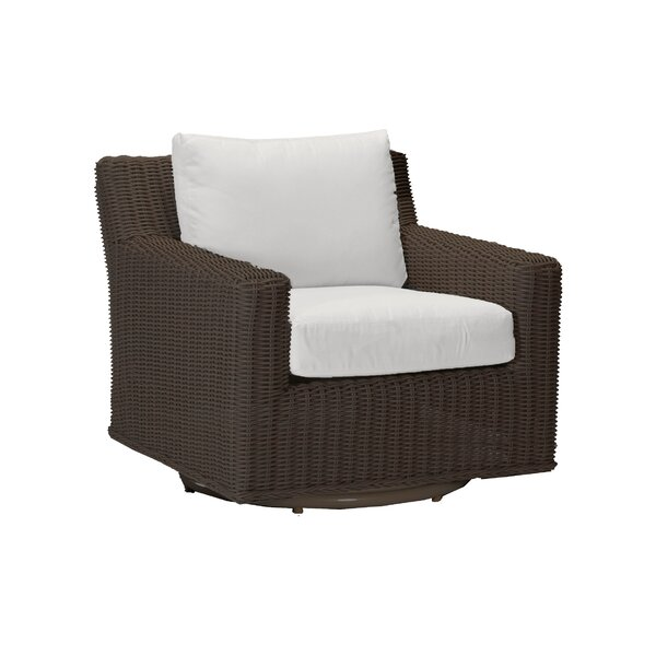 Speaker Swivel Patio Chair with Cushions by Summer Classics Summer Classics
