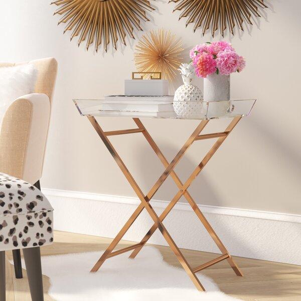 Levi Acrylic Tray Table By Willa Arlo Interiors