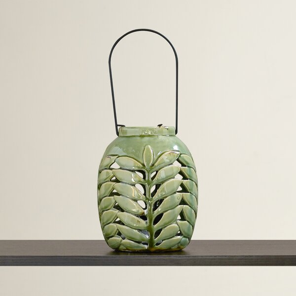 Holstebro Ceramic Lantern by Bungalow Rose