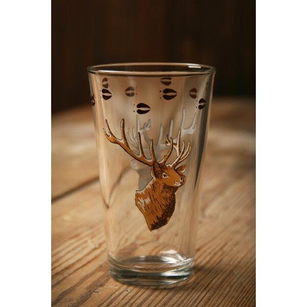 Brooks Elk 20 oz. Water/Juice Glass (Set of 4) by Loon Peak