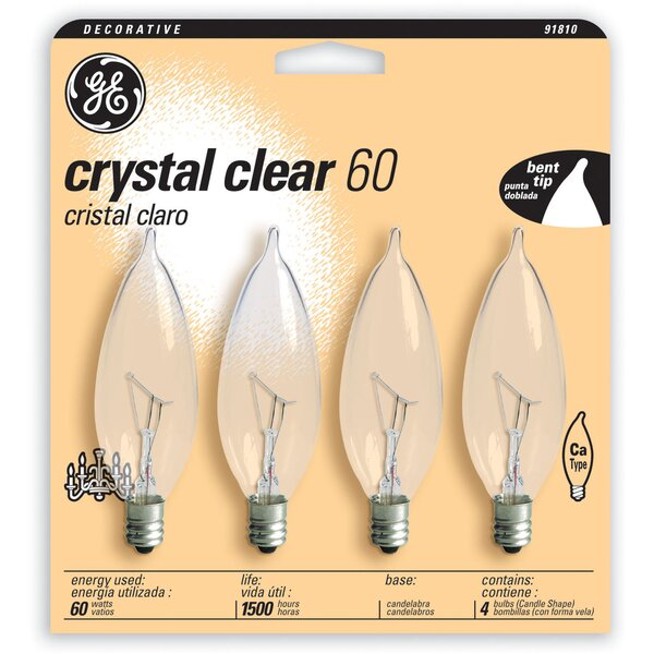 60W 120-Volt Incandescent Light Bulb (Pack of 4) by GE