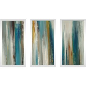 'Passage of Time' Framed Acrylic Painting Print Multi-Piece Image on Glass by George Oliver