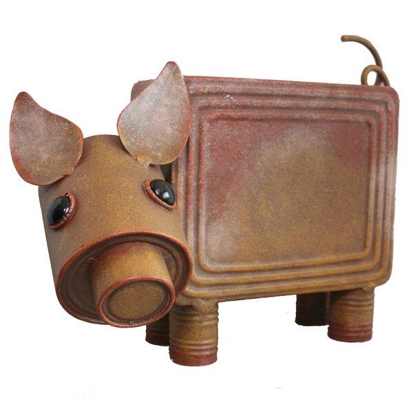 Pig Metal Pot Planter by Bella Group