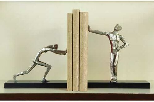 Blockhead Book Ends (Set of 2) by Global Views