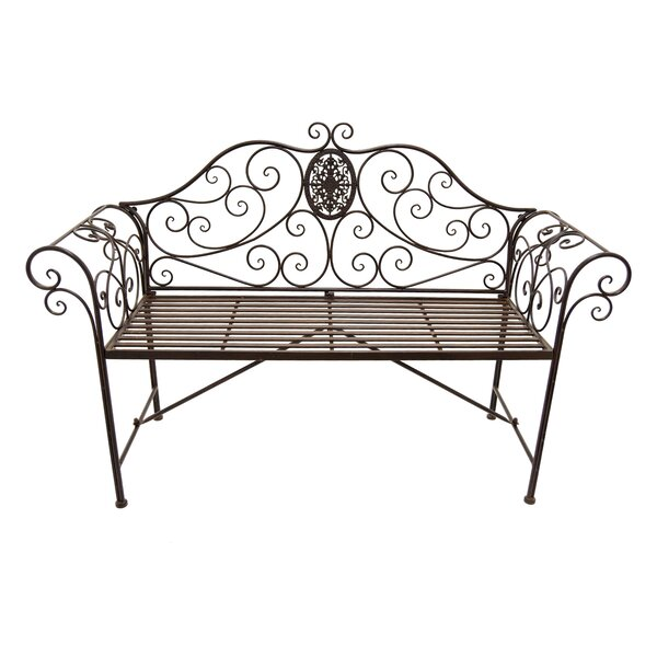 Rivera Scroll Work Garden Bench by Fleur De Lis Living