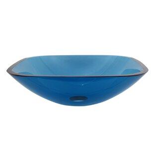 Top Reviews Temper Glass Square Vessel Bathroom Sink ByElements of Design
