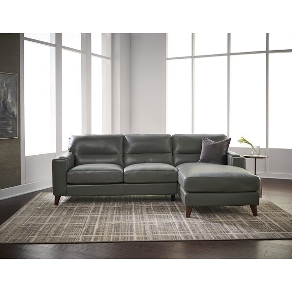 Adelinde Leather Right Hand Facing Sectional By Brayden Studio