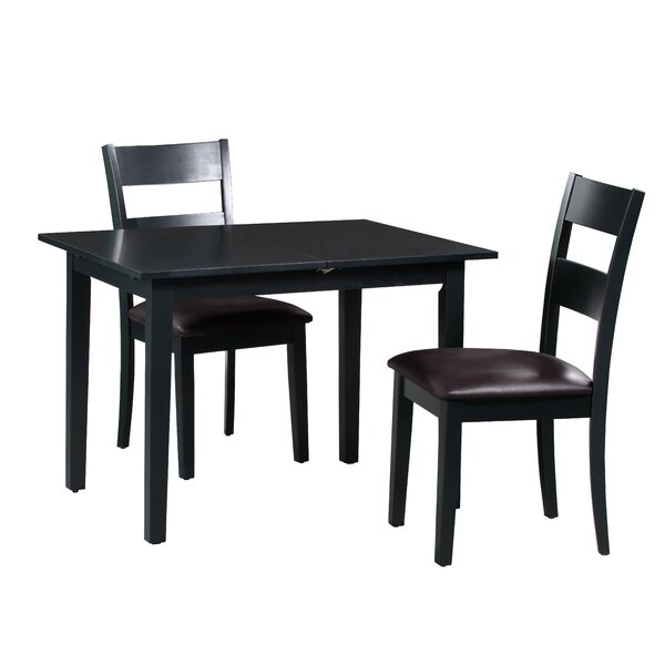 Best Design Fontinella 3 Piece Extendable Solid Wood Dining Set By Alcott Hill Great Reviews