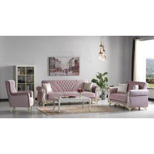 Rosamond 4 Piece Sleeper Living Room Set by Rosdorf Park