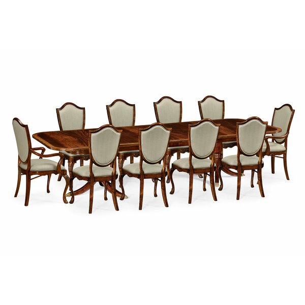 11 Piece Drop Leaf Dining Set by Jonathan Charles Fine Furniture Jonathan Charles Fine Furniture