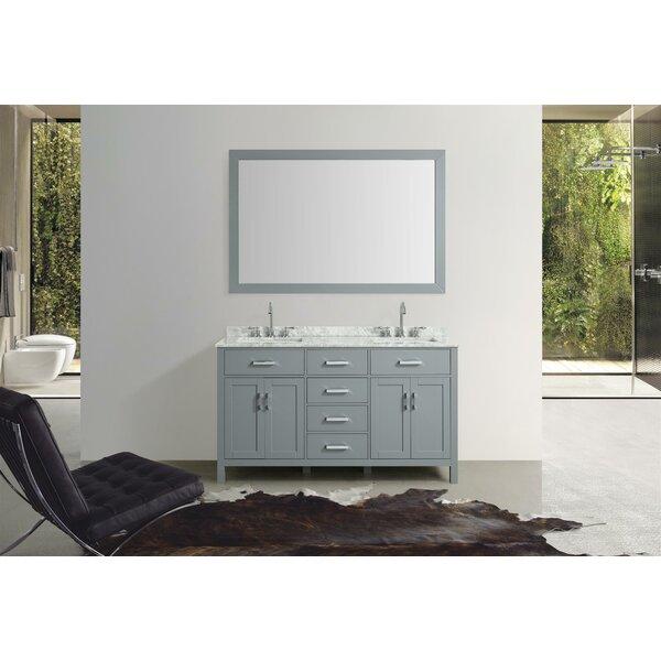 Weatherford 61 Double Bathroom Vanity Set with Mirror by Orren Ellis