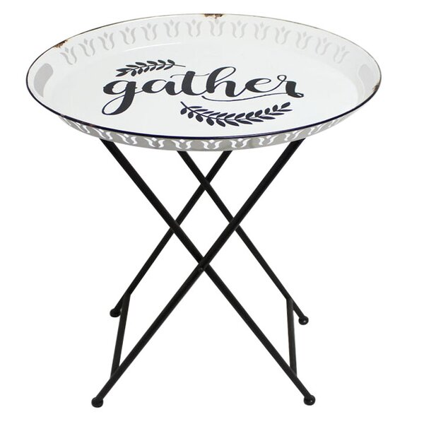 Hellman Metal Tray Table by Winston Porter