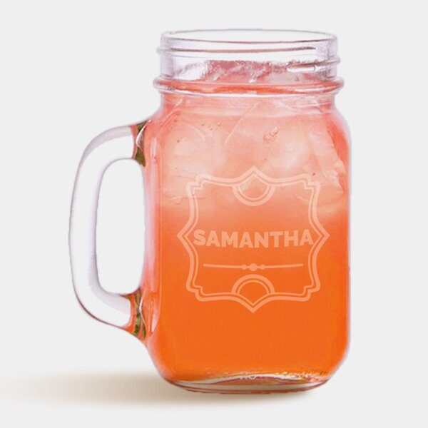 Personalized Drinking Glass 16 oz. Mason Jar by Monogramonline Inc.