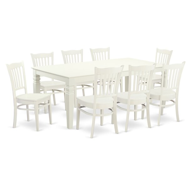 Beesley 9 Piece Solid Wood Dining Set by Darby Home Co Darby Home Co