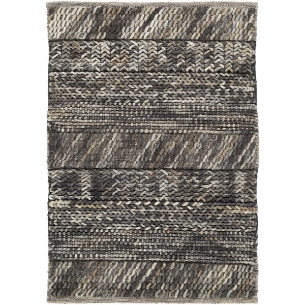 Shelton Hand Woven Wool Gray/Brown/Beige Area Rug by Union Rustic
