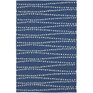 Amee Hand-Tufted Navy Indoor/Outdoor Area Rug