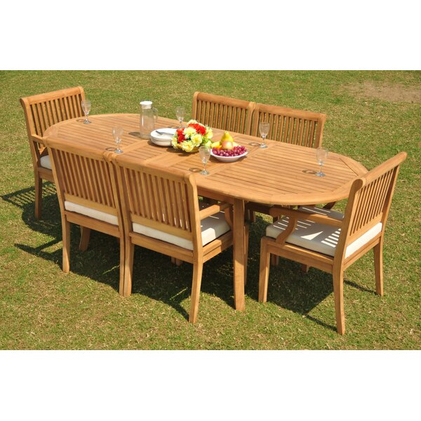 Naglee 7 Piece Teak Dining Set by Rosecliff Heights