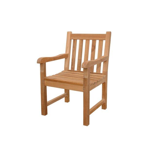 Bovas Teak Patio Dining Chair by Freeport Park
