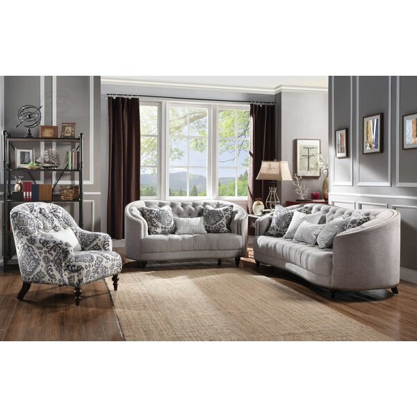 Natanael 3 Piece Living Room Set by One Allium Way