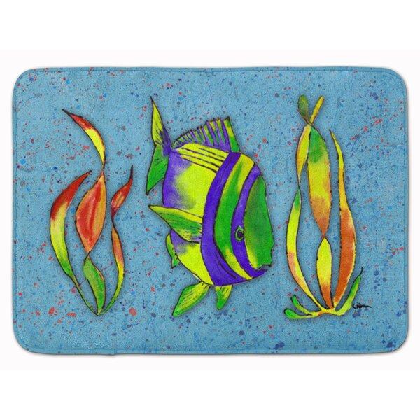 Tropical Fish Rectangle Microfiber Non-Slip Bath Rug