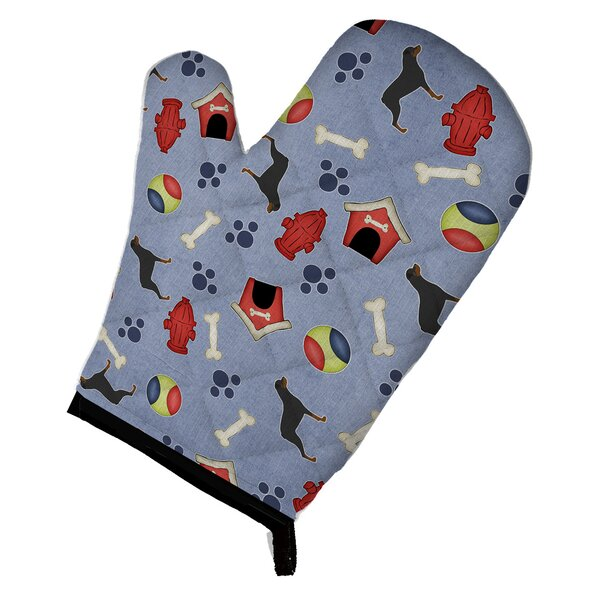 Rottweiler Blue/Red Oven Mitt by East Urban Home