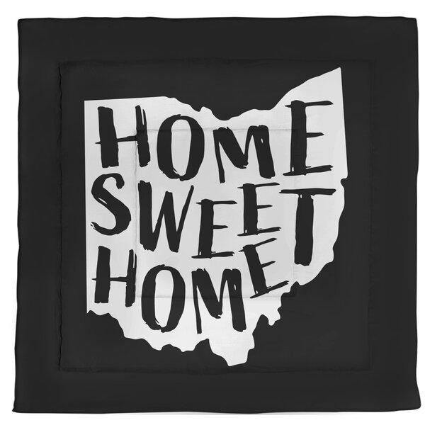 Ohio Home Sweet Single Reversible Comforter