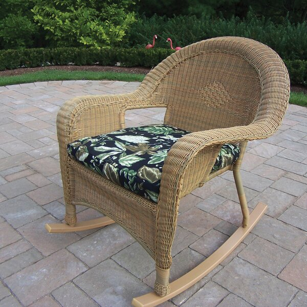 Kingsmill Wicker/Rattan Rocker (Set of 2) by Rosecliff Heights