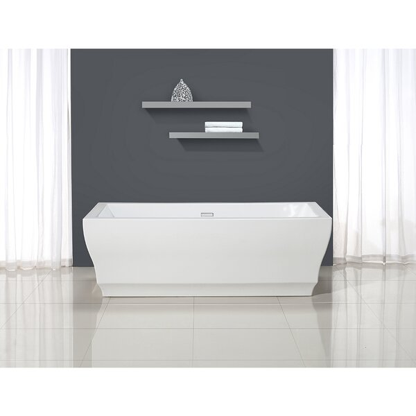 Vita 31.5 x 69.25 Freestanding Soaking Bathtub by Ove Decors