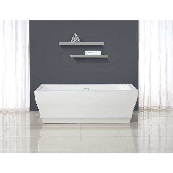 Vita 31.5 x 69.25 Freestanding Soaking Bathtub by Ove Decors