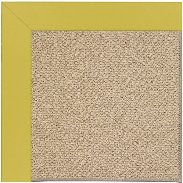 Lisle Machine Tufted Citronella/Brown Indoor/Outdoor Area Rug by Longshore Tides