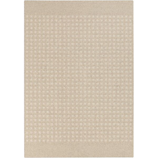 Buck Hill Machine woven Beige/Ivory Geometric Area Rug by George Oliver