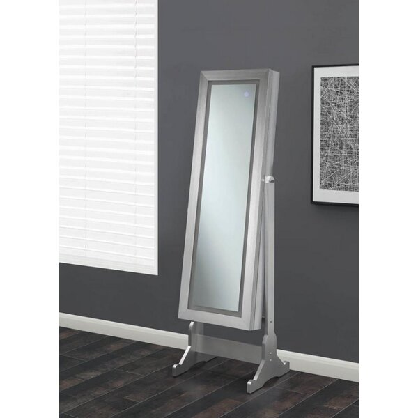 Dawna Free Standing Jewelry Armoire with Mirror by Canora Grey Canora Grey