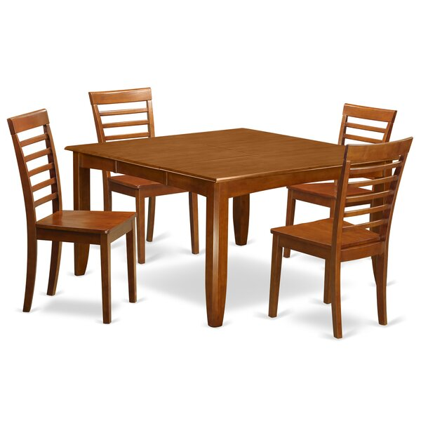 Parfait 5 Piece Extendable Dining Set By Wooden Importers Find