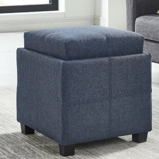 Pimentel Fabric Storage Cube Reversible Tray Lid Ottoman
