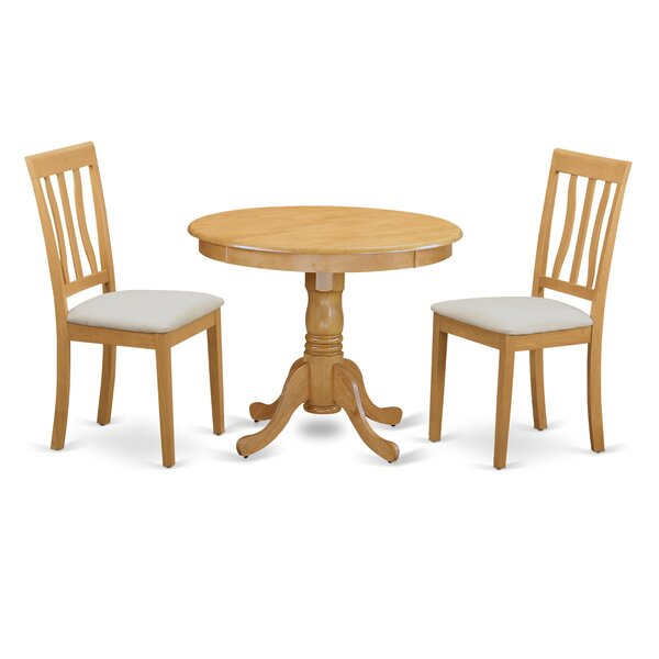 3 Piece Bistro Set by East West Furniture