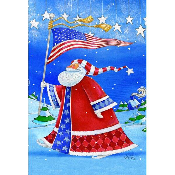 Patriotic Santa 2-Sided Garden flag by Toland Home Garden
