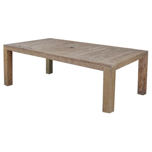 Farallon Weathered Teak Dining Table by Rosecliff Heights