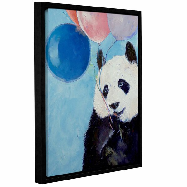 Panda Party by Michael Creese Framed Painting Print on Wrapped Canvas by ArtWall