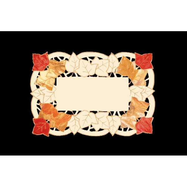 Autumn Elegance Decorative Embroidered Fall Leaf Table Placemat (Set of 4) by The Holiday Aisle