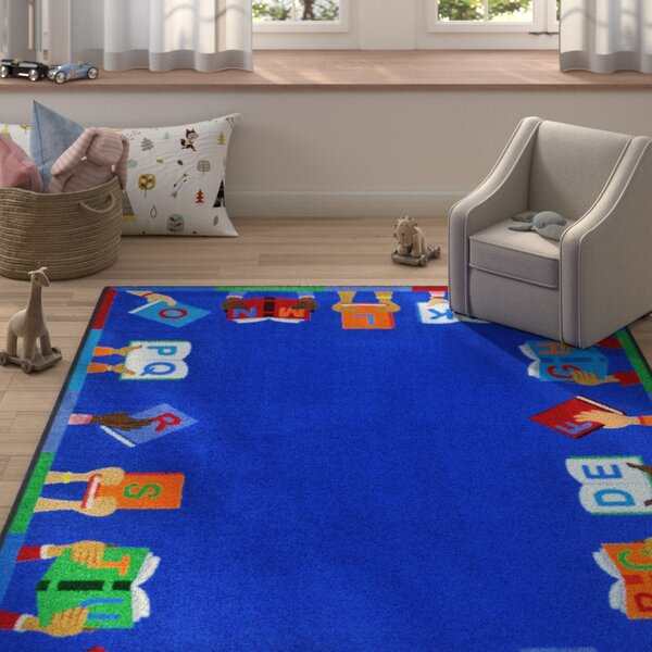 Allman Books Are Handy Blue Area Rug by Zoomie Kids