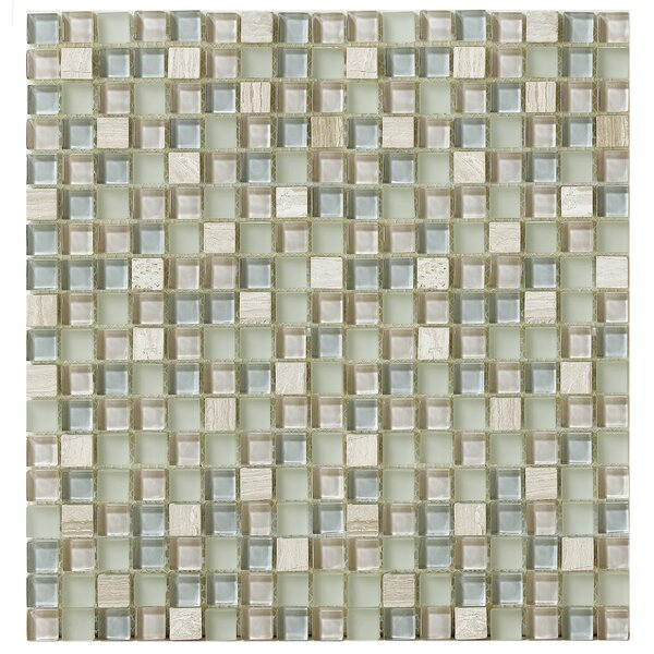 Treasure 12 x 12 Glass Gem Mosaic Tile in Gray Mist by Mohawk Flooring
