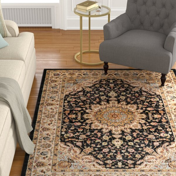 Ravens Black Area Rug by Charlton Home