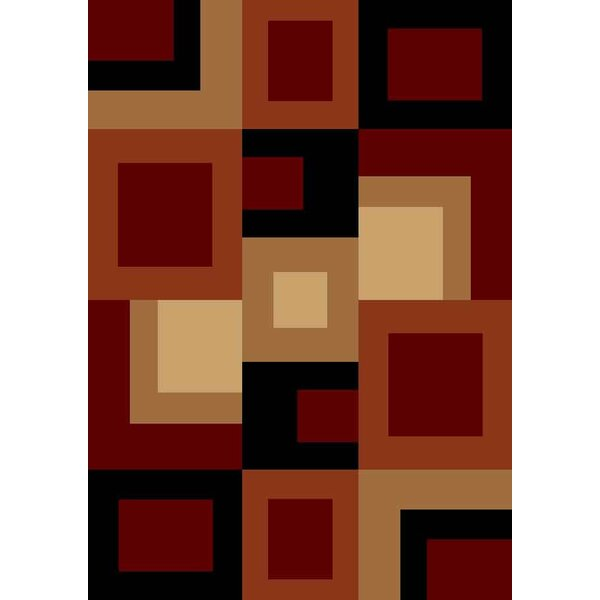 Pilewicz Red/Beige Area Rug by Orren Ellis