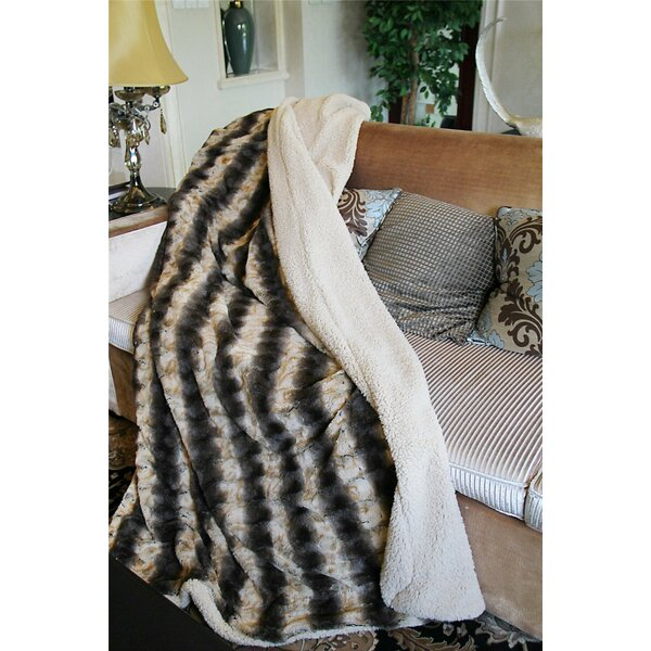 Safari Faux Fur Throw Blanket by Tache Home Fashion