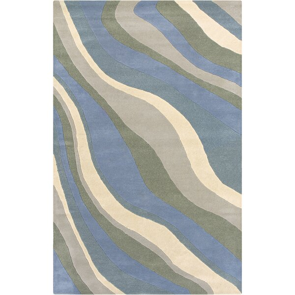 Vadalur Hand-Tufted Blue Area Rug by Meridian Rugmakers