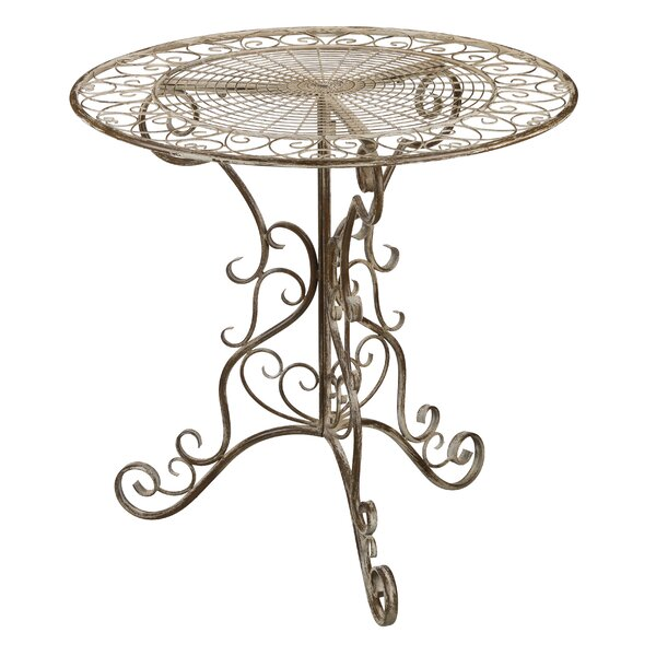 Antique Ivory Bistro Table by Regal Art & Gift