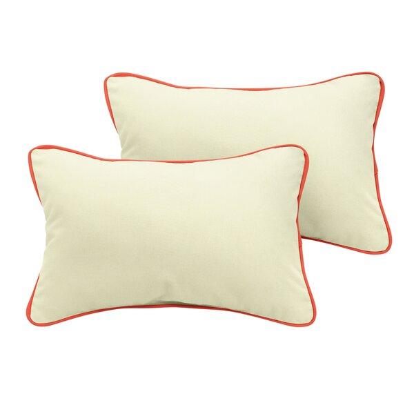 Nguyet Sunbrella Outdoor Lumbar Pillow (Set of 2) by Bayou Breeze
