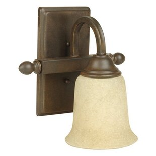 Reviews Belvidere 1-Light Bath Sconce By Charlton Home