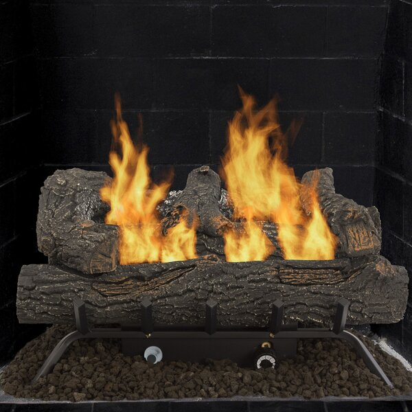 Southern Oak Vent Free Natural Gas/Propane Fireplace Log Set By Pleasant Hearth